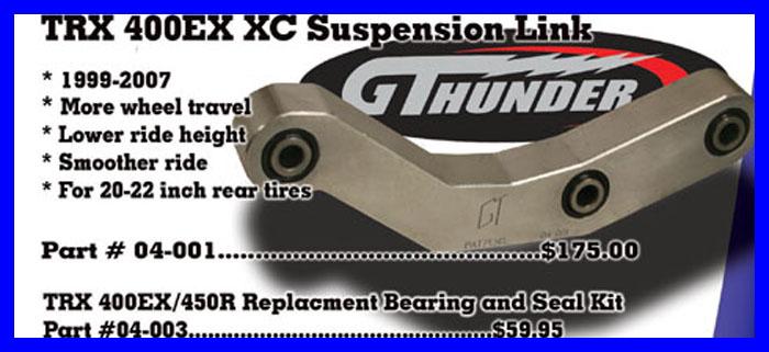 XC 06-001 GT THUNDER LINKAGE
